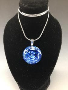 Blue Rose Pendant